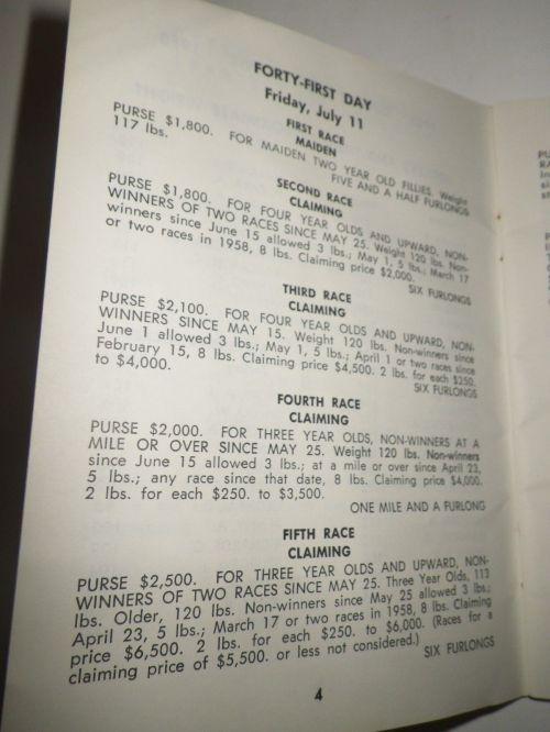 1958 Detroit Race Course Condition Book 4