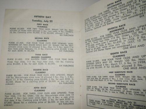 1958 Detroit Race Course Condition Book 5