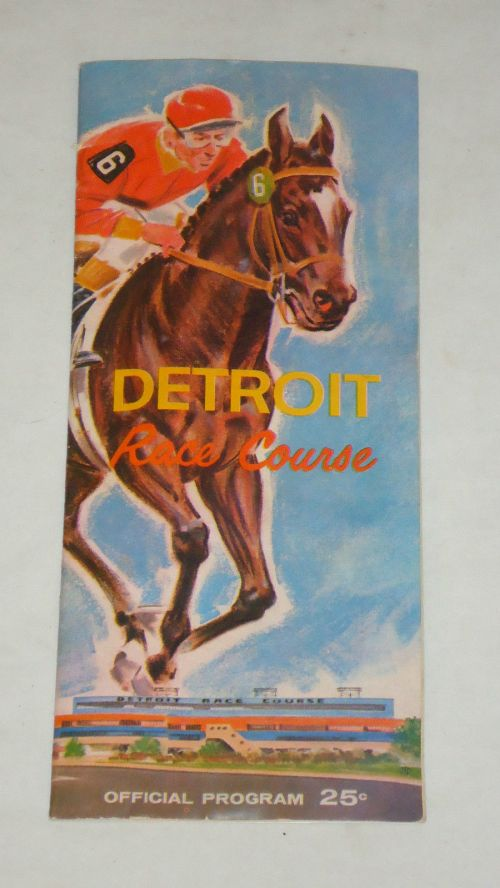 Detroit Race Course Program 1961