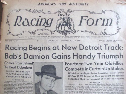 Reminiscing/ Detroit Race Course | Longshot'S Blog