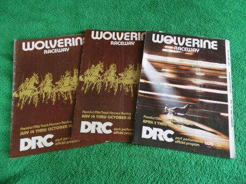 Wolverine Harness Racing_DRC 1982