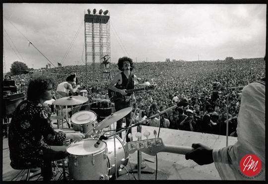 Santana Woodstock Stage Photos