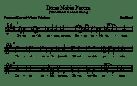 Dona Nobis Pacem Music