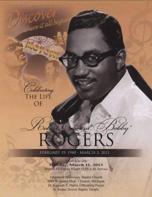 Motown Monday In Honor Of Bobby Rogers Homecoming Service