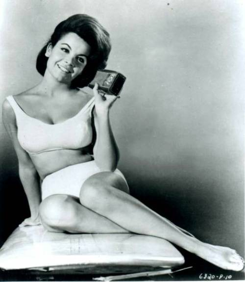 Annette Funicello at the beach