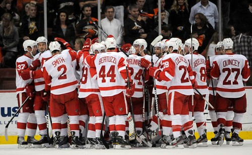 Det Red Wings Win Series with Ducks May 12, 2013