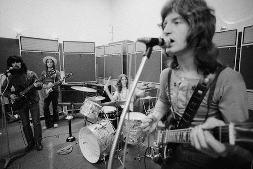 Rock Band Badfinger Rehearsing