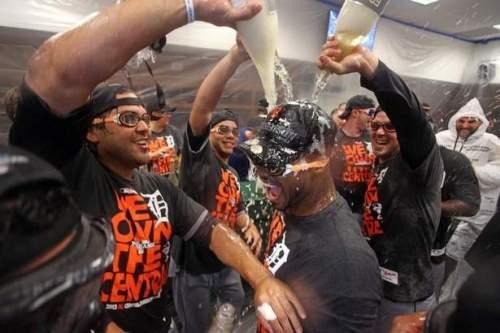 Detroit Tigers 2013 ALC Celebration