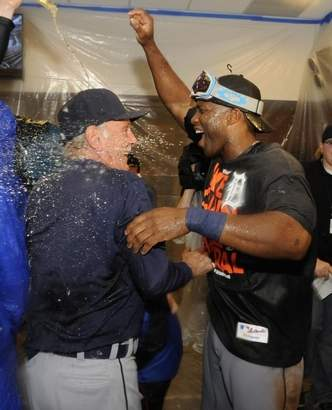 Detroit Tigers Celebrate 2013 ALC
