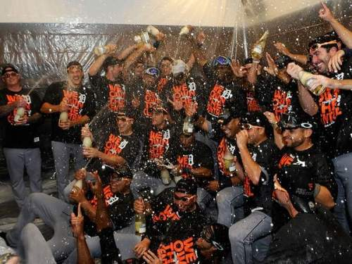 Tigers Celebrate American League Title 2013