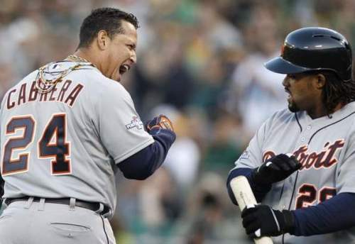 Cabrera & Fielder Oct. 10, 2013