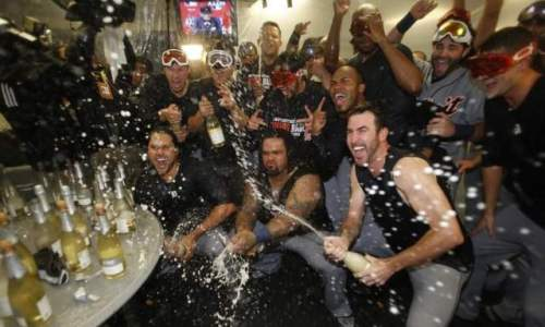 Champagne Time ALDS Champs 2013