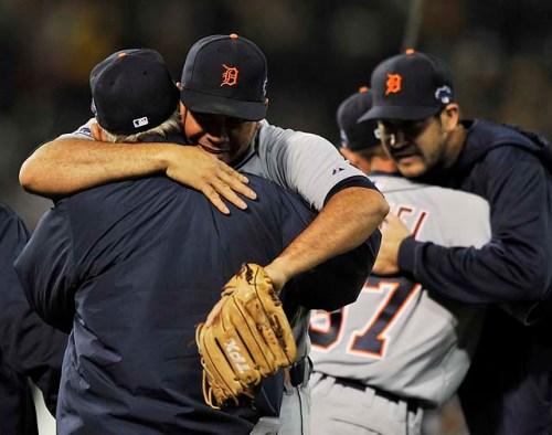 Tigers Skipper gets hug