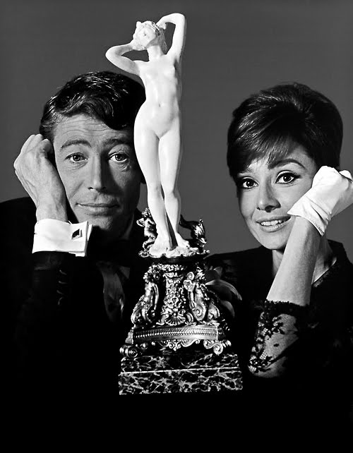 Peter O'Toole and Audtey Hepburn