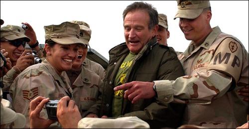 Robin Williams & Troops