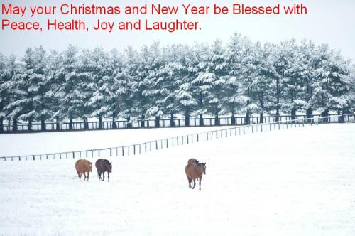 horses and snow_Christmas