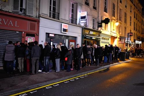 Charlie Hebdo news stands