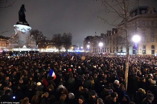Place de la Republique in Paris _ Charlie Hedbo