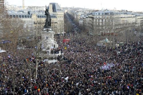 Place de la Republique (Republic Square) in Paris