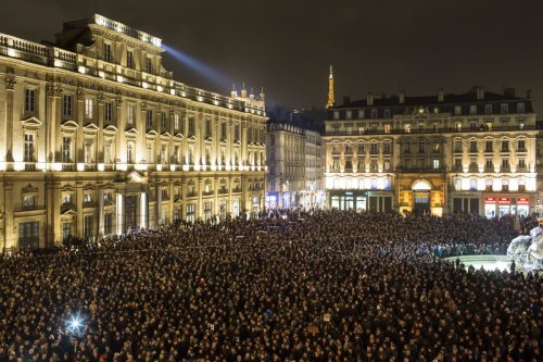 Place Royal in Nantes _ In Memory of Charlie Hebdo