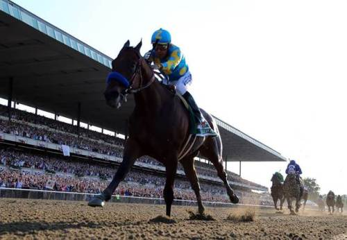 American Pharoah Opens Up in Belmont