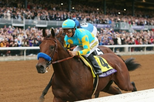 American Pharoah and Victor Espinoza Breeders Cup win 2015