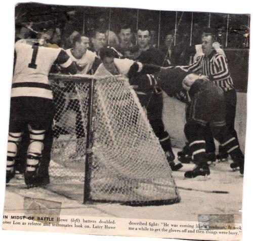 Gordie Howe- Lou Fontinato fight NY Ranger
