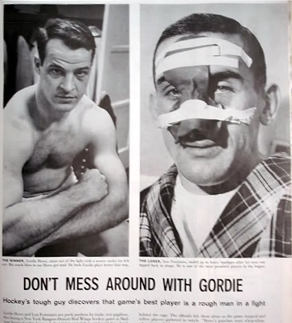 Gordie Howe-Lou Fontinato fight