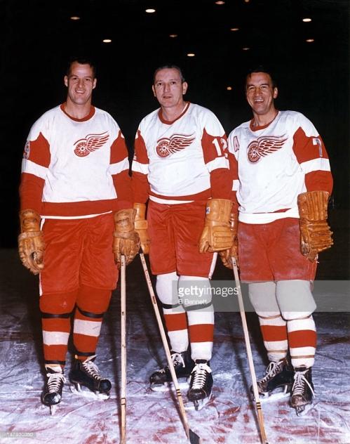 Gordie Howe, Sid Abel and Ted Lindsay