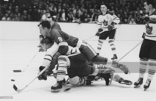 Hockey: NHL Finals: Detroit Red Wings Gordie Howe (9) in action vs Toronto Maple Leafs at Olympia Stadium. Game 3. Detroit, MI 4/16/1964 CREDIT: Lee Balterman (Photo by Lee Balterman /Sports Illustrated/Getty Images) (Set Number: X9946 TK1 R13 F37 )